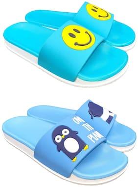 Women Flip Flops ( Blue )