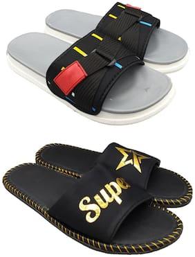 Men Sliders ( Grey;Gold )