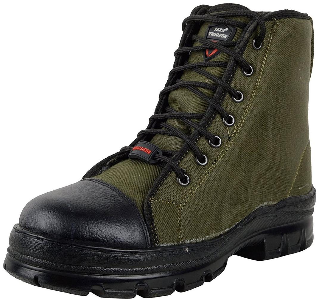 Para Trooper Combat Leather Military  Boots Men Work Safety Shoes Hiking Boots Lightweight Army Boot Militares Combat Casual Ankle Shoes PTR015
