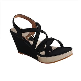 PATTICE Women Black Sandals