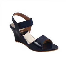 PATTICE Women Navy Blue Sandals