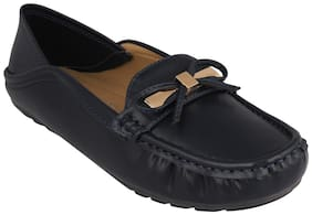 Pelle Albero Womens Navy Comfortable Loafer