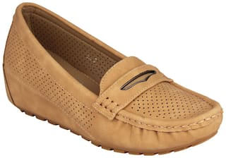 Pelle Albero Womens Camel Comfortable Loafer