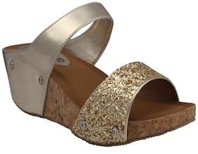 PELLE ALBERO Women Gold Heeled Sandals