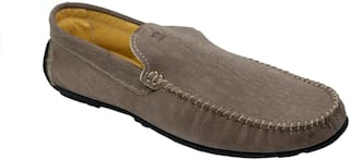 Pelle Lavoro Loafers For Men  (Grey) shoes