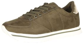People Women Olive Casual Shoes