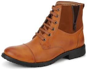 Men Brown Ankle Boots