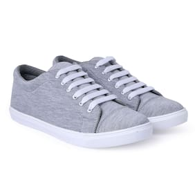 PERY-PAO Men Grey Casual Shoes