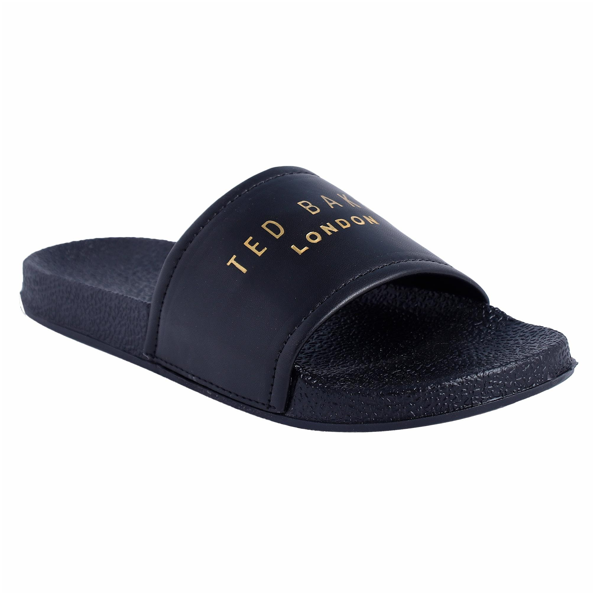 PERY-PAO Men's Black Sliders