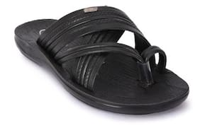 131274b9d Action Men Black Sandals   Floaters