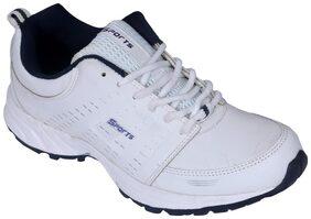 phylic Men White Running Shoes