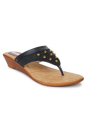 PICKTOES Golden Faux Leather Women Heels