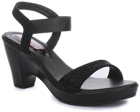 Picktoes Black Block Heels