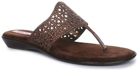 Picktoes Brown Flats