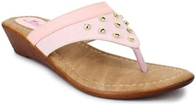 PICKTOES Brown Faux Leather Women Sandals