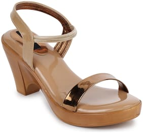Picktoes Tan Block Heel