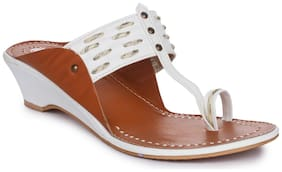 Picktoes White Wedges