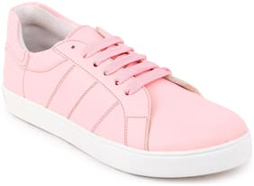 PICKTOES Women Pink Sneakers