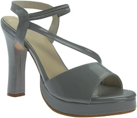 PICKTOES Women Grey Peep Toes