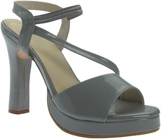 PICKTOES Women Grey Peep Toes