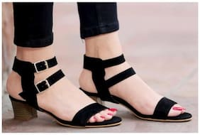 PKKART Women Black Mules