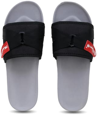 PKKART Men Grey Sliders - 1 Pair