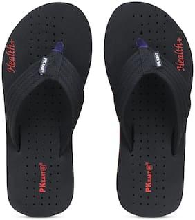 PKKART Men Black Flip-Flops - 1 Pair
