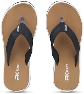 PKKART Men Tan Flip-Flops - 1 Pair