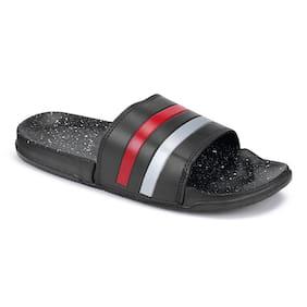 PKKART Men Black Sliders - 1 Pair