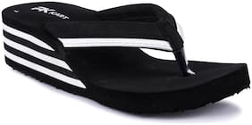 Pkkart Women Casual Comfort Flip flop slippers (Black)
