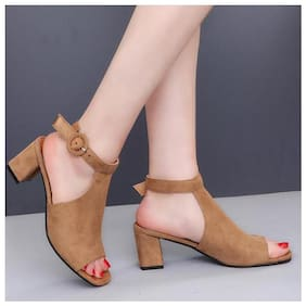 Pkkart Women's Casual Block Heel