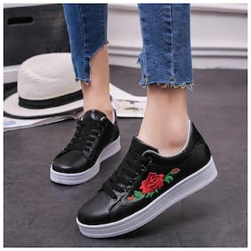 PKKART Women Black Sneakers