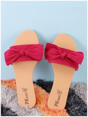 PKKART Women Red Sandals