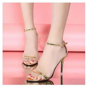 Pkkart Women's Casual Gold Heel
