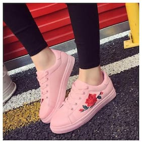PKKART Women Pink Sneakers