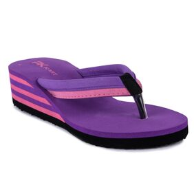 Pkkart Purple High Heel Comfort Flipflop