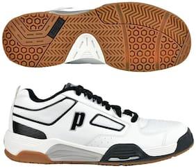 Prince NFS Assault Indoor Court Shoes For Men 10.5 US (White, Black, Silver) - 8P423013