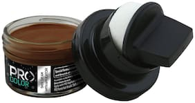 Pro Shoe Cream With Applicator I Shoe Polish I Leather Shoe Polish With Applicator I 50 Ml (Light Brown)