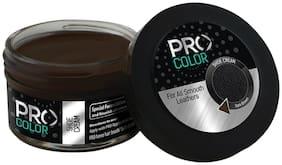 Pro Shoe Cream I Shoe Polish I Consists Of Natural Carnoba Wax & Bees Wax I Leather Shoe Polish I Shoe Cream I 50 Ml I(Dark Brown)