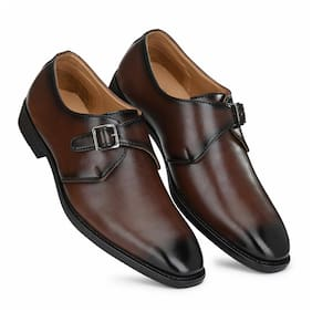Prolific Men Brown Monk Shoes