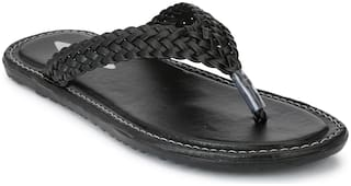 Prolific Men Black Flip-Flops -