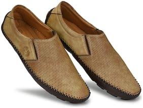 Prolific Men Beige Loafers - CM10124
