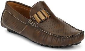 Prolific Men Brown Casual Loafers