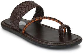 Prolific Men Brown Slippers & Flip-Flops
