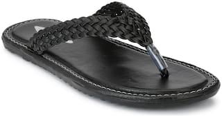 Prolific Men Black Flip-Flops -
