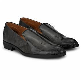 Prolific Men Grey Slip-On Formal Shoes - FM1746