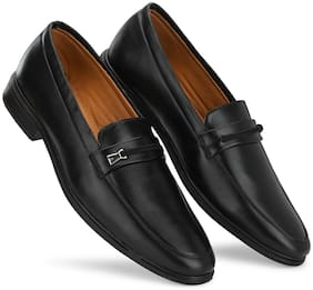 Prolific Men Black Slip-On Formal Shoes - FM1806