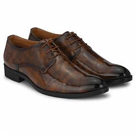 Prolific Men Tan Derby Formal Shoes - FD1752