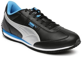 Puma 36368702 Men Black And Silver Toned Velocity Idp  Shoes