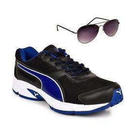 Puma Adamo Black & Blue Shoe With TNF Men 100% UV Sunglasses